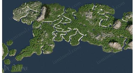 World map of Naruto -  8k x 8k